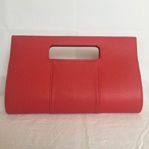 Red CHARMING CHARLIE Embossed Clutch Purse